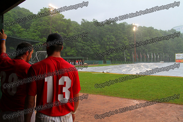 Mohawks vs Oneonta Outlaws (rained out) Mel Rojas Jr's last game