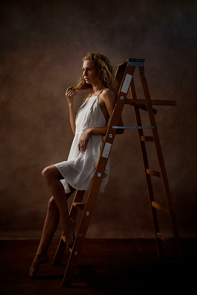Sacramento studio portrait photographer. Female Fine Art Portrait.