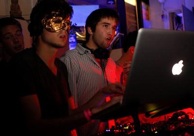 Student DJs at Mezza Luna