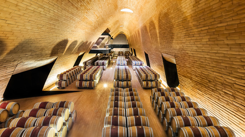 Wine Cellars, Antinori Winery; Tuscany, Italy
