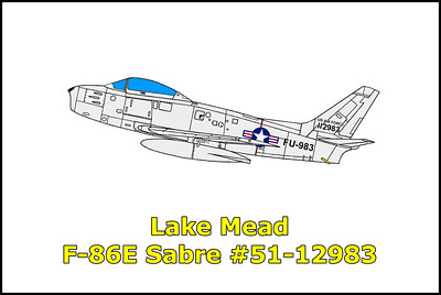 Lake Mead F-86E Sabre #51-12983 10/25/12