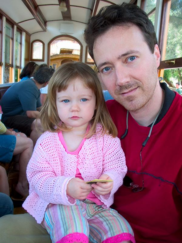 4/26 - We had a pretty rough 3 weeks while Lili couldn't sleep more than 8 hours at night. To cheer her up, we went for a ride on the small train in Poway.
