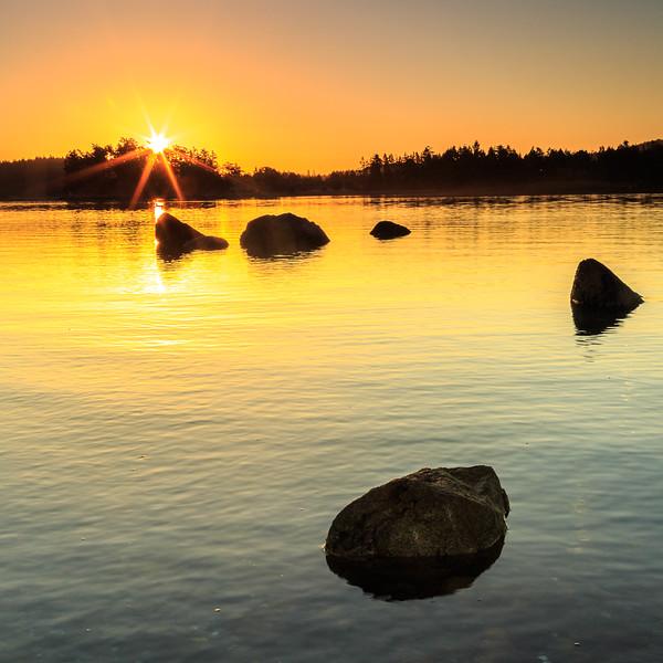 Sunrise at Mosquito Pass on Henry Island