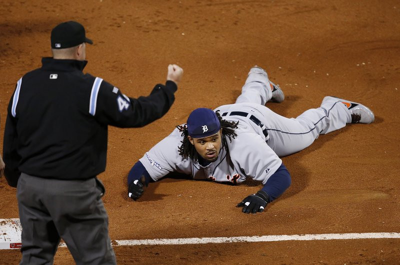 """. <p>4. PRINCE FIELDER <p>Showed a lot of gut in his comedically bad playoff flop. (unranked) <p><b><a href=\'http://www.nydailynews.com/sports/baseball/prince-fielder-tagged-bellyflopping-base-article-1.1490773\' target=\""""_blank\""""> HUH?</a></b> <p>    (AP Photo/Elise Amendola)"""