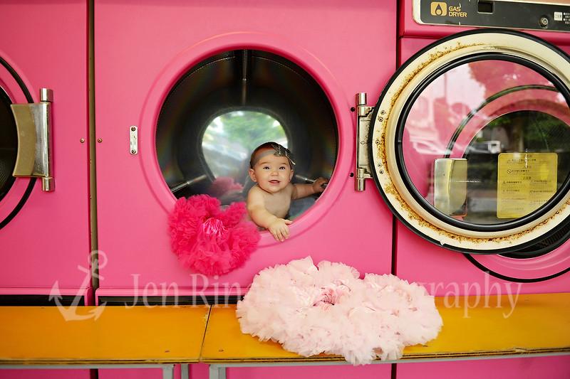 Sawyer Pink Laundromat 4/4/16