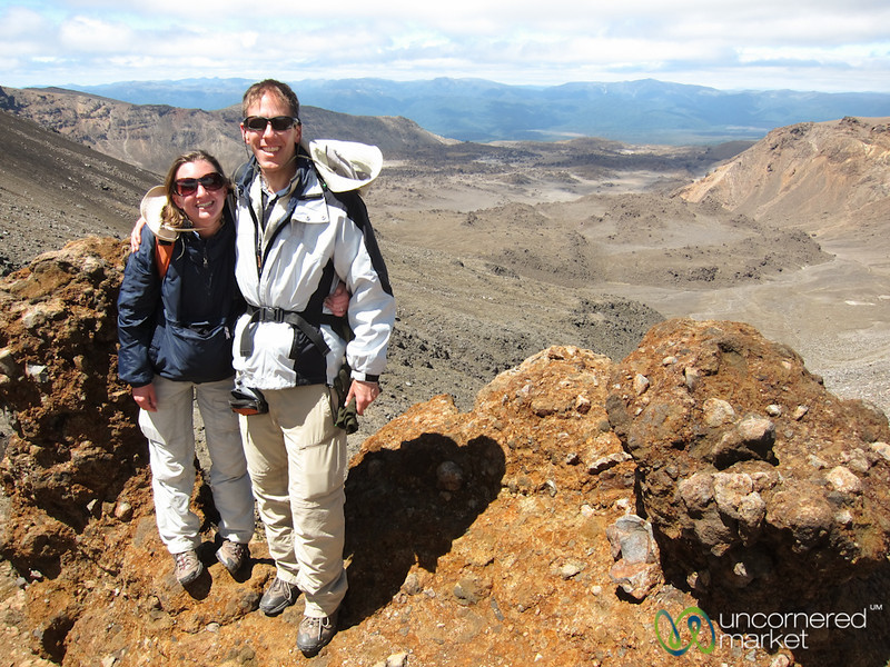Dan & Audrey Hiking at Tongariro - New Zealand
