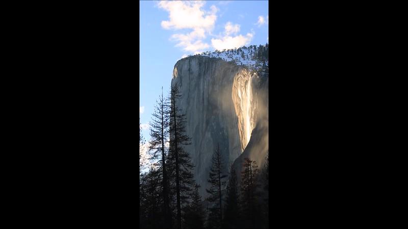 Firefall at Yosemite National Park - Feb 2017