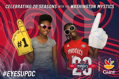 Washington Mystics 20th Anniversary Celebration Game: 6/4/2017