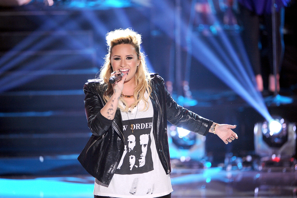 . Singer Demi Lovato performs onstage during the Teen Choice Awards 2013 at Gibson Amphitheatre on August 11, 2013 in Universal City, California.  (Photo by Kevin Winter/Getty Images)