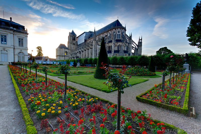 Bourges has a beautiful cathedral, view from the garden in back.