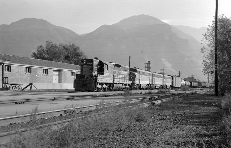 D&RGW passing through Provo. October 17, 1964. <i>(Marvin Black Photo)</i>