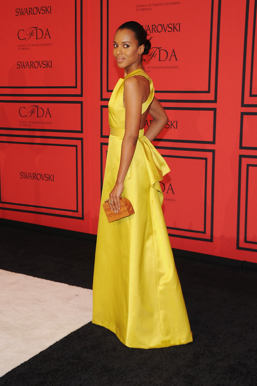 . NEW YORK, NY - JUNE 03:  Kerry Washington attends 2013 CFDA FASHION AWARDS Underwritten By Swarovski - Red Carpet Arrivals at Lincoln Center on June 3, 2013 in New York City.  (Photo by Bryan Bedder/Getty Images for Swarovski)