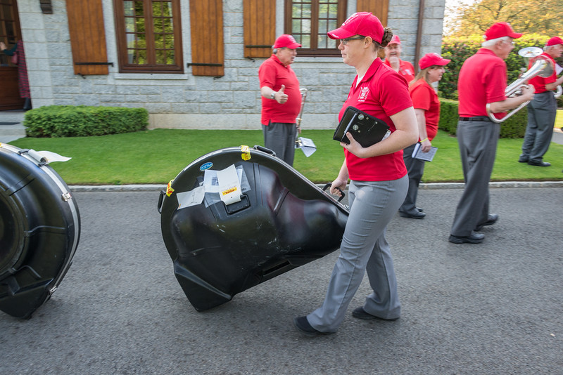 The pre-shipped instruments had been delivered to the cemetery and were claimed by relieved musicians