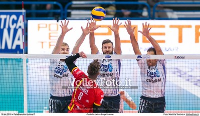 2ª ritorno #SuperLega «Top Volley Latina - Bunge Ravenna»