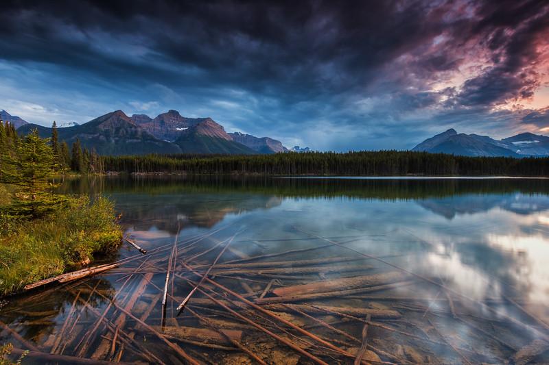 Herbert Lake, Banff National Park. Alberta, Canada.