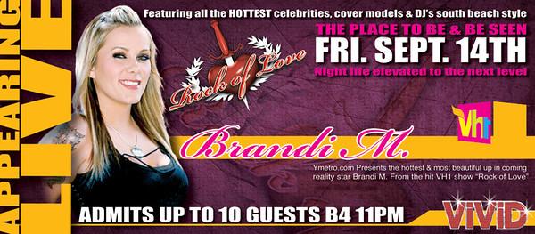 "Brandi M. from VH1 Reality Show ""Rock of Love"" @ VIVID 9.14.07"