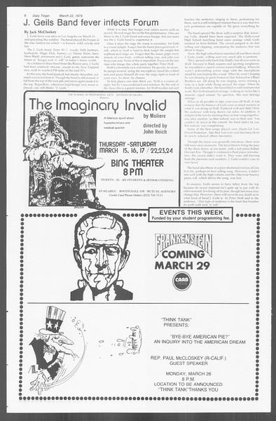 Daily Trojan, Vol. 76, No. 29, March 22, 1979