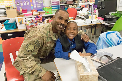 Helen Ball Elementary School surprise military homecoming