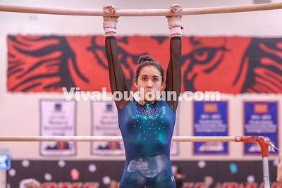 Gymnastics: Loudoun Valley @ Dulles Districts 1.30.2018 (By Jeff Scudder)
