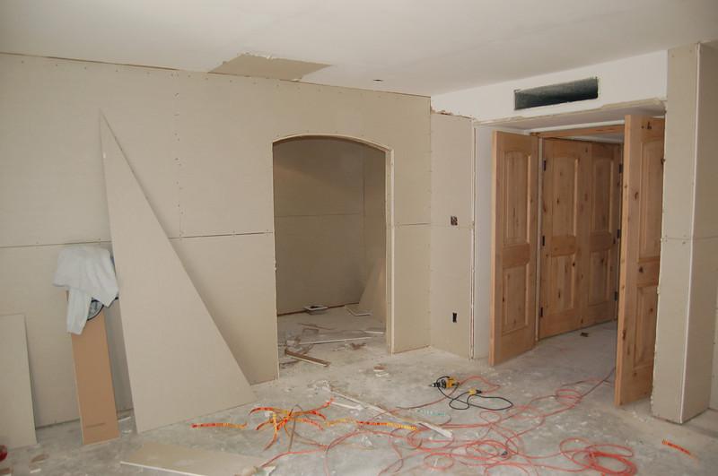 Master bedroom, closet door and bedroom double door.