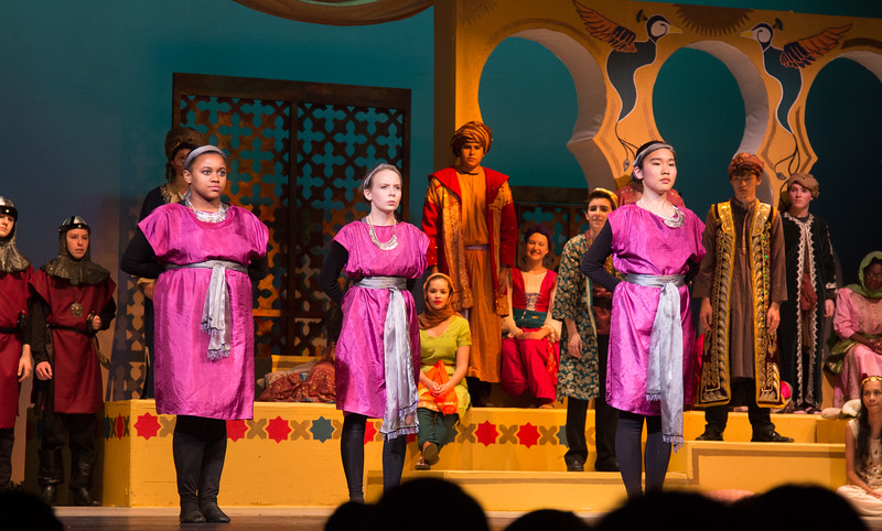 The Princesses of Abbabu -- Kismet, Montgomery Blair High School spring musical, April 15, 2016 performance (Silver Spring, MD)