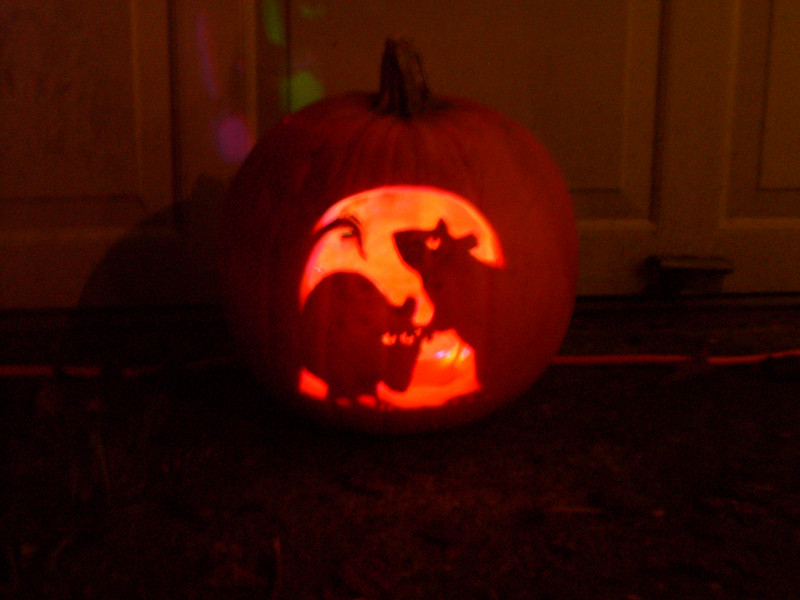 Another cool pumpkin carving.