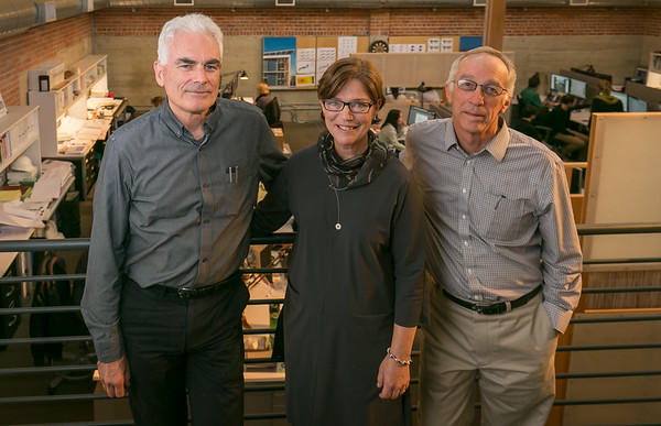 Architects Marsha Maytum, Bill Leddy and Richard Stacy