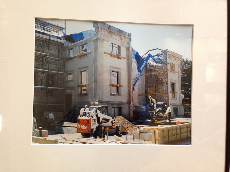 One of the images in the November 2013 exhibit about the library building and its construction.