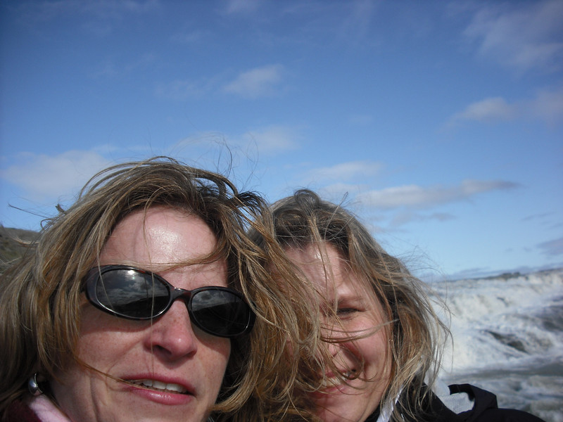 The Attache and Jenni looking hot at Gullfoss.