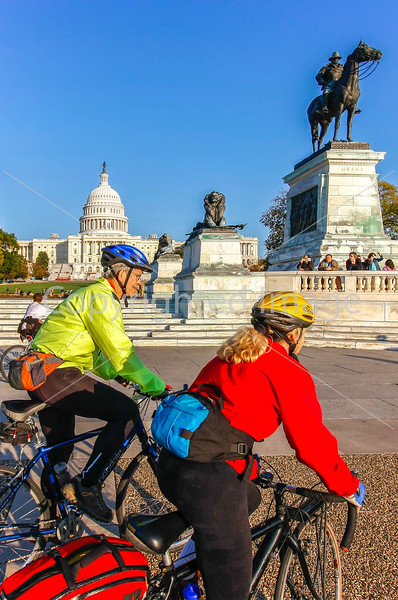 Washington, DC - Cyclists at the Capitol, Ford's Theater, Chinatown, Surratt Boarding House...
