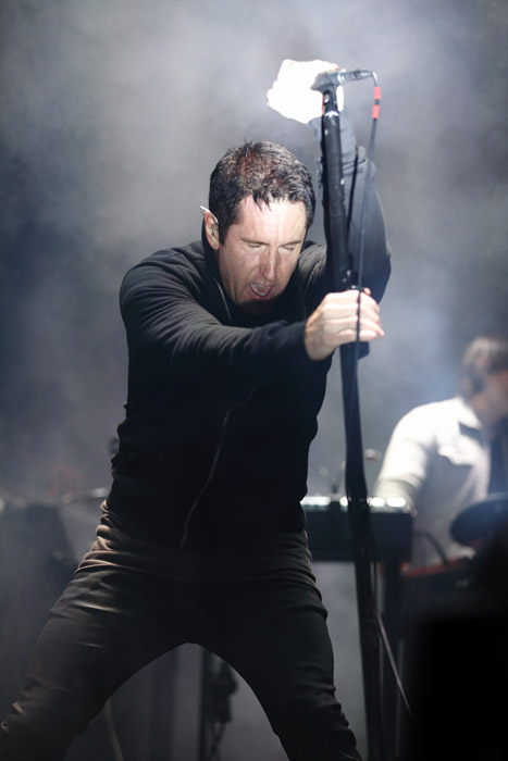 . Trent Reznor of Nine Inch Nails at The Palace of Auburn Hills. Photo by Ken Settle