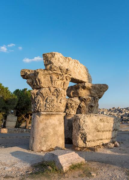 Column ruins, Amman Citadel