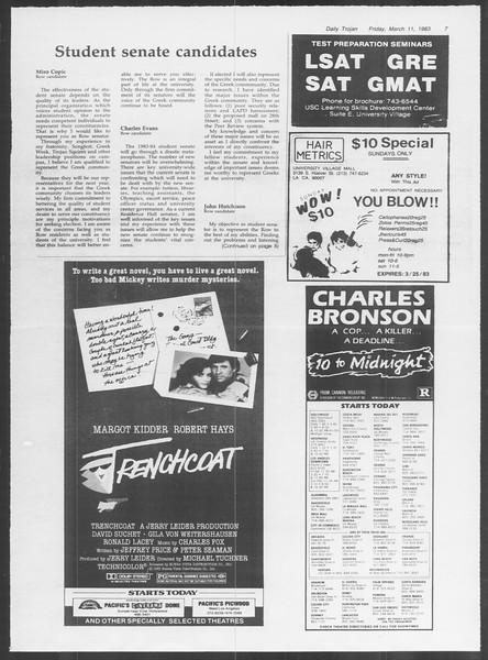 Daily Trojan, Vol. 93, No. 41, March 11, 1983
