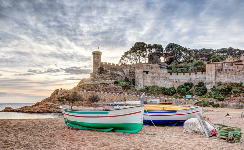 Sunrise on the Beach (Tossa de Mar, Catalonia)