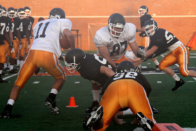 Football - First practice in full pads September 2012