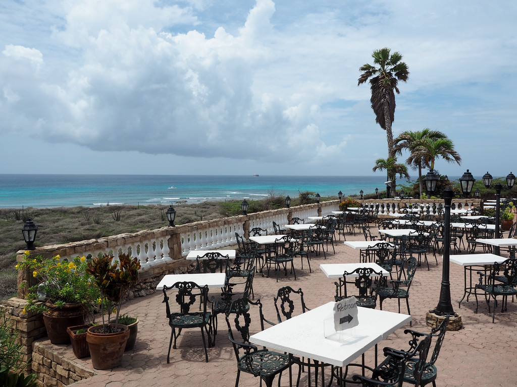 View from Faro Blanco Restaurant in Aruba