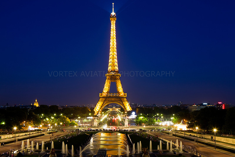 Paris the city of light.
