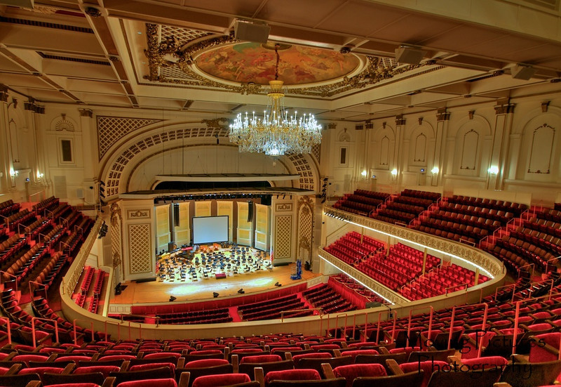 Music Hall - Springer auditorium - view from gallery, 3rd level