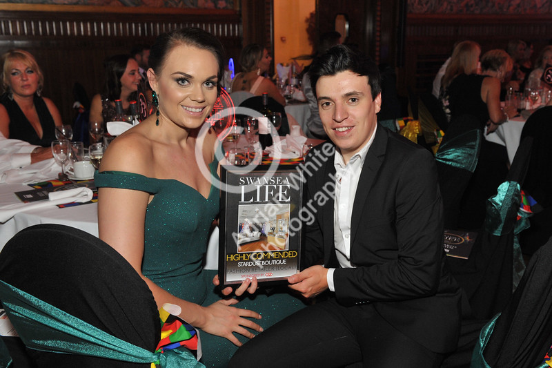 Swansea Life Awards 2017 Brangwyn Hall, Swansea Local Fashion Retailer Highly Commended Stardust Boutique