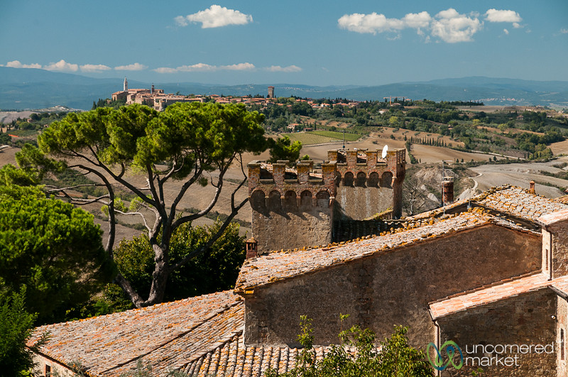 View of Pienza from Monticchello - Tuscany, Italy
