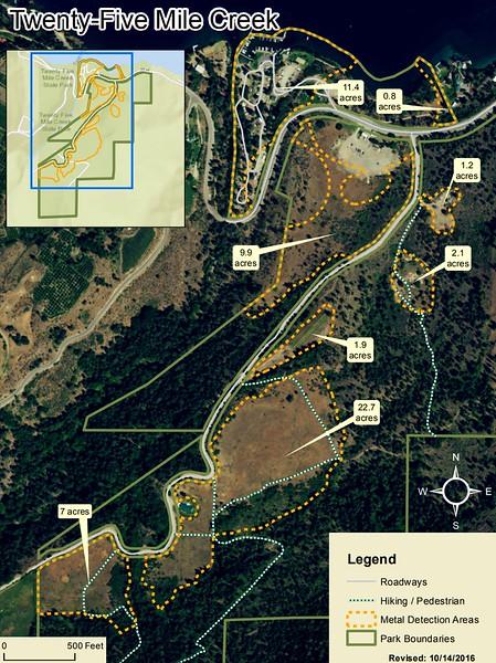 Twenty-Five Mile Creek State Park (Metal Detection Areas)
