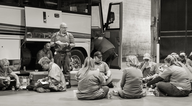 Where else can you enjoy a picnic lunch on the floor of a major downtown loading dock?