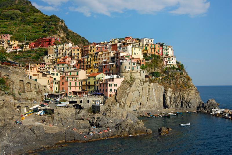 Hill-top Coastal Village of Manarola in Cinque Terre, Liguria (Italy)