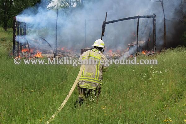 6/20/18 - Onondaga pole barn fire, 4100 block of Covert Rd