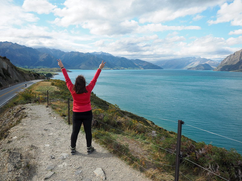 Amanda at Lake Hawea