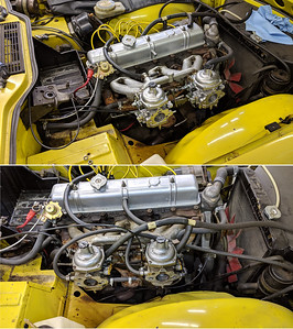 2019-02-09 Changing Carbs on Yellow TR6