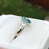 1.73ctw Blue Marquise Cut Diamond Trilogy Ring 4