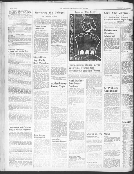 Daily Trojan, Vol. 30, No. 49, November 29, 1938