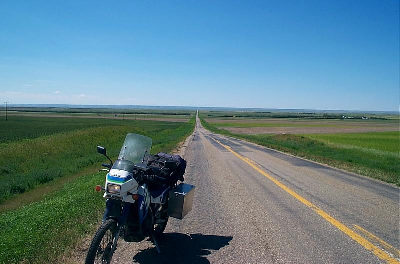 KLR 650 on Highway 13