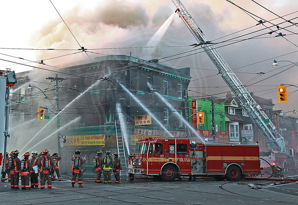 July 13, 2013 - 4th Alarm - Broadview Ave & Gerrard St E.